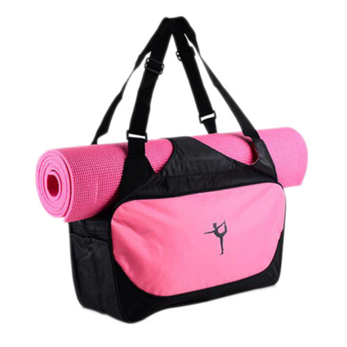 Outdoor Sport Bag Waterproof Training Yoga Bag Thicken Exercise Yoga Mat Bag-Pink