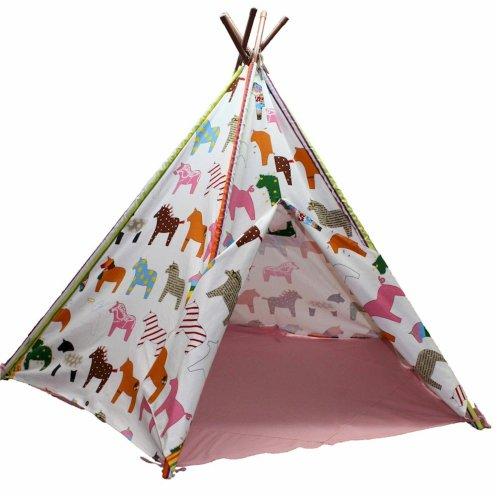 Children's Indoor and Outdoor Pony Wigwam Teepee Tent