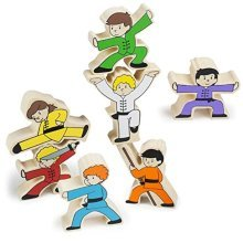 Wooden Wonders Kung-Fu Stunt Stackers Balancing Game (7pcs.) by Imagination Generation