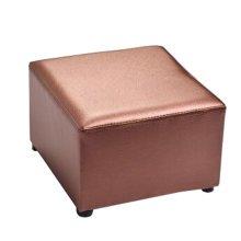 Fashionable Square Faux Leather Modern Small Stool Table Stool Sofa Pier Ottoman Stool