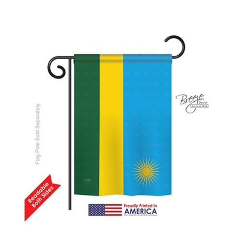 Breeze Decor 58292 Rwanda 2-Sided Impression Garden Flag - 13 x 18.5 in.
