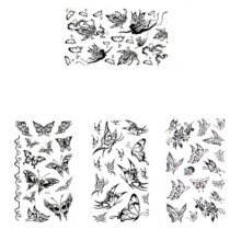 7e60376b4 Panda Superstore · Set of 4 Cool Gothic Letters DIY Name Body Tattoo  Stickers Fake Tattoos Designs