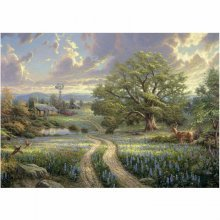 Jigsaw Puzzle - 1000 Pieces - Thomas Kinkade : Country Idyll