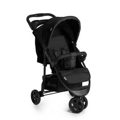 Hauck Citi Neo II, One Hand Fold 3 Wheel Pushchair, from Birth to 22Kg, Black