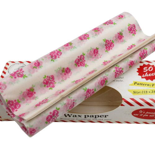 50 PCS Baking Parchment Oil-Proof Paper Wax Paper Candy Wrapper 25X21.8 CM