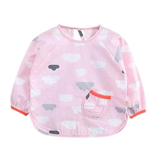 Cute Baby Feeding Bib Overclothes Waterproof & Oilproof Baby Bibs Painting Smock #04