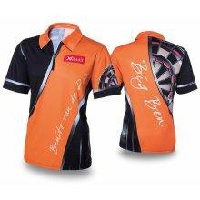 XQmax Darts BvdP Replica Match Shirt Orange Size XXL QD9200260