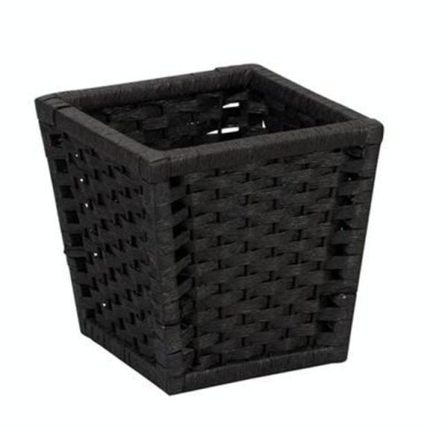 Home Essentials ML-7032 Paper Rope Waste Can-Black