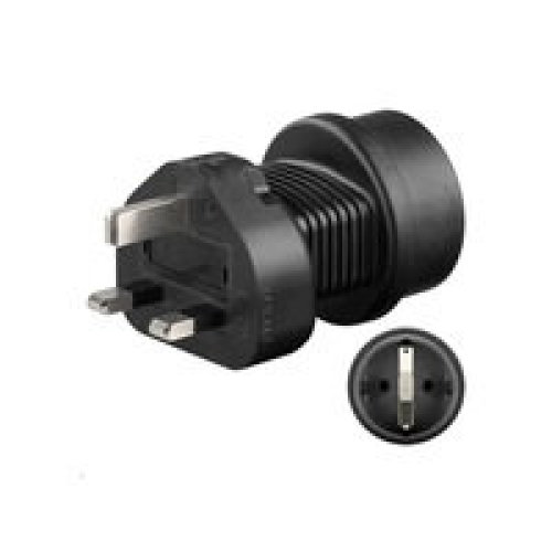 Microconnect PETRAVEL1 Type F Type F Black power plug adapter