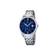 Festina F16871/3 Mens Quartz Navy Dial Silver Stainless Steel Watch