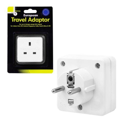 Benross European Travel Adaptor Except UK and Ireland Use 2 Pin Round