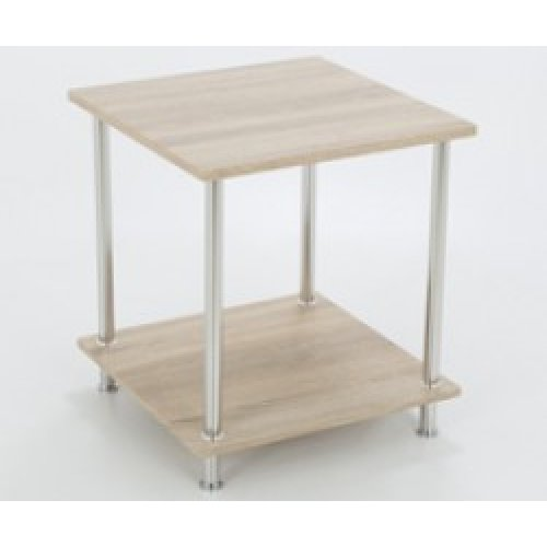 King Whitewashed Oak Effect End Table Side Table Coffee Table, Square, 45cm x 45cm, for Living Rooms, Lounges, Study, etc