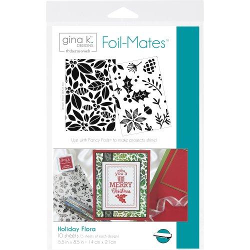 """Gina K Designs Foil-Mates Background 5.5""""X8.5"""" 10/Pkg-Holiday Flora"""