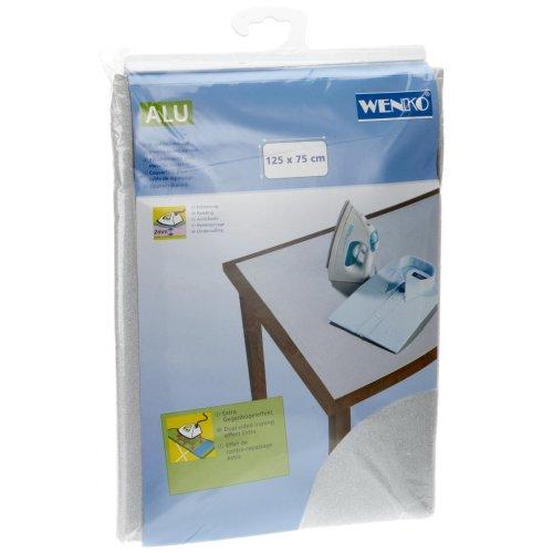 Wenko 1025111100 Aluminium Table Ironing Cover, 125 x 75 cm, Silver