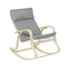 SoBuy® FST15-DG, Rocking Chair Relax Lounge Chair with Cotton Fabric Cushion