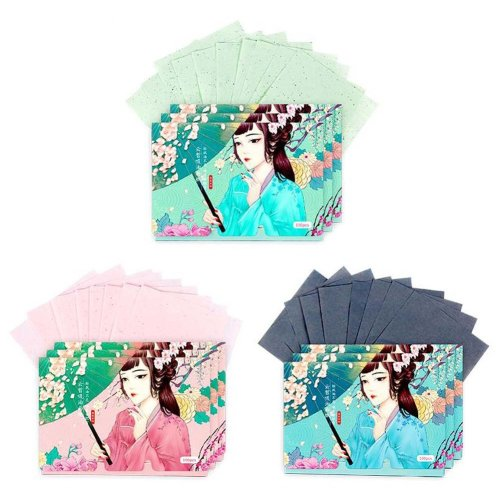 Double-sided Makeup Blotting Papers Face Oil Absorbing Paper set, 300 Sheets (C)