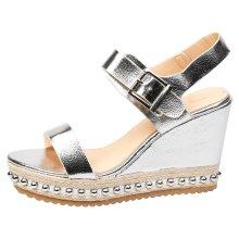 Sherri Womens High Wedge Heel Platforms Sandals