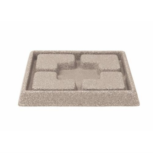 Stewarts Garden Cotswold Decorative Saucer Square - 25cm - Light Sand (5134080)