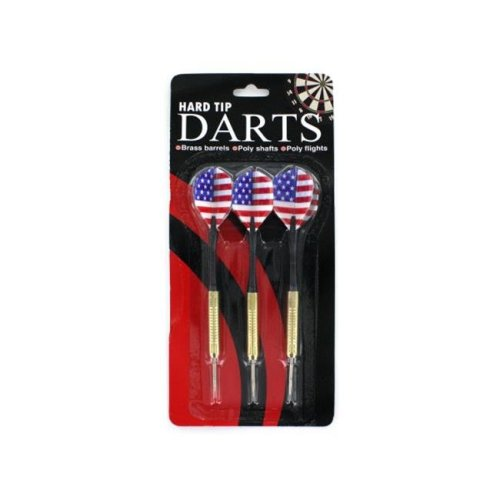 Bulk Buys KB822-24 Hard Tip Darts Strong and Durable - Pack of 24