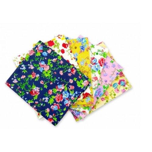 Fat Quarter Bundle - 100% Cotton - Rose Garden - Pack of 6