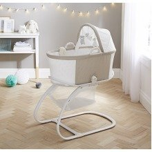 PurAir Breathable Bassinet | Soft Truffle Baby Bassinet & Stand