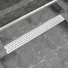 vidaXL Linear Shower Drain Line 930x140 mm Stainless Steel