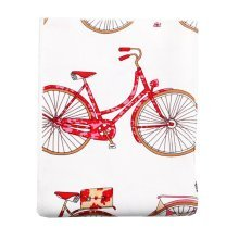 Bicycle Pattern Linen Fabric Cloth DIY Craft Supply