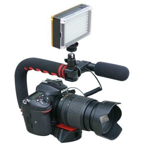 Camera Video Stabiliser Handle Video Grip  for DSLR Sony Nikon Canon