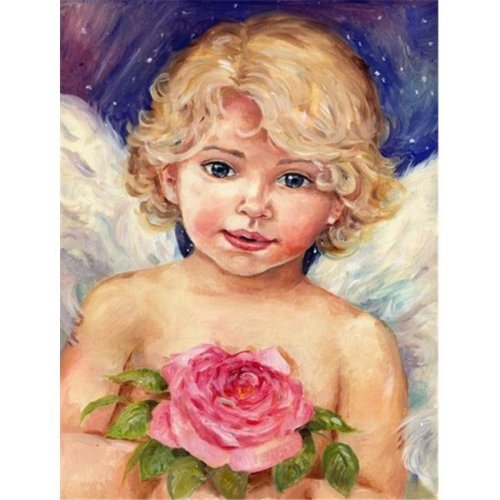 Carolines Treasures CDCO0249GF Little Angel by Debbie Cook Flag Garden Size