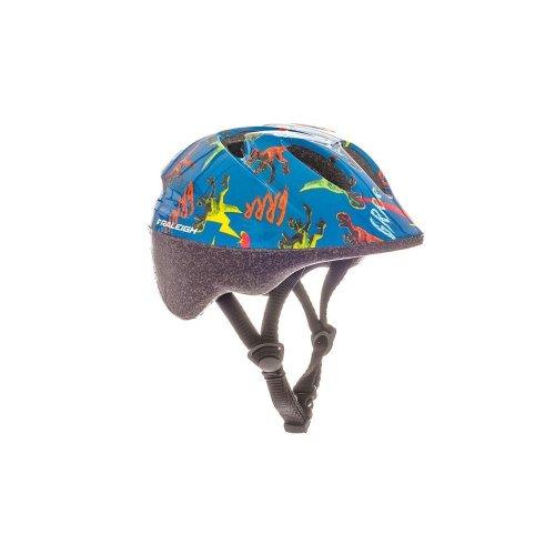Raleigh Kids' Rascal Dinosaur Cycle Helmet, Multi-Colour, 44-50 cm