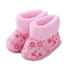 Soft Warm Unisex Baby Booties Newborn Shoes Infant Walking Shoes Great Gift for Baby, H