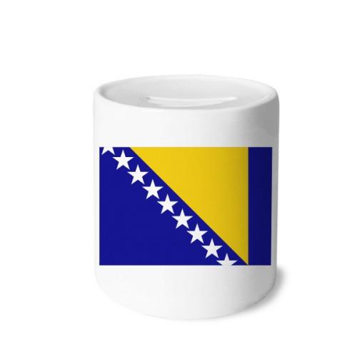 Bosnia and Herzegovina National Flag Country Money Box Saving Banks Ceramic Coin Case Kids Adults