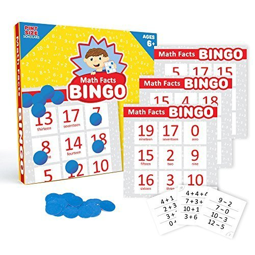 Addition & Subtraction Math Facts Bingo, 2 Difficulty Levels, Up to 36 Players by Pint-Size Scholars