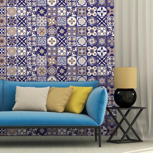 Walplus Tile Royal Tiles Wall Sticker Decal (Size: 20m x 20cm @ 12pcs)
