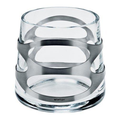 Stelton x-27 Embrace Steel Mini Vase, Clear Glass