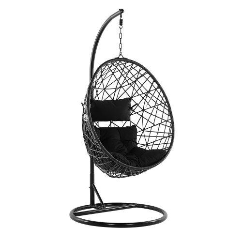Rattan Hanging Chair Black ALATRI
