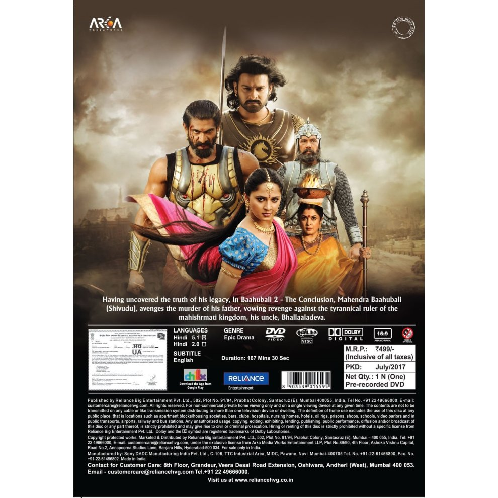 Bahubali 2: The Conclusion on OnBuy