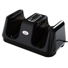 Homcom Portable Heated Electric Kneading Foot Massager - Black