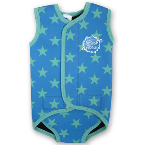 SPLASH ABOUT BABY SWIM WRAP - NEOPRENE SWIMMING WETSUIT WRAP - BLUE STARS