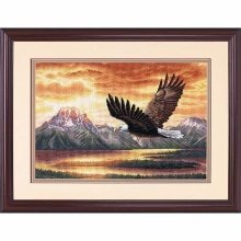 D35165 - Dimensions Counted X Stitch - Gold, Silent Flight