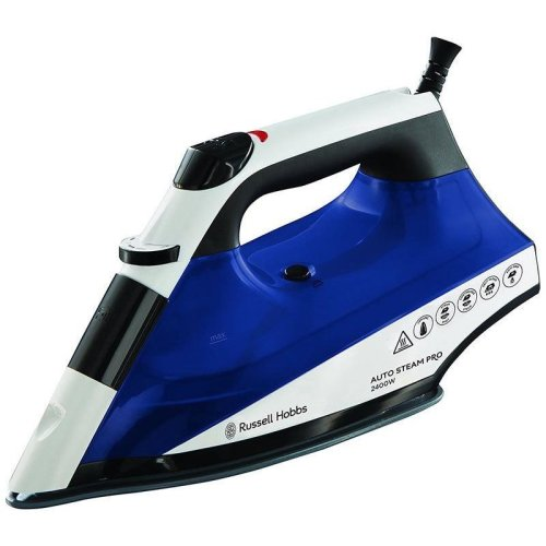 Russell Hobbs Auto Steam Pro Ceramic Iron 2400 W - White / Blue (Model 22522)