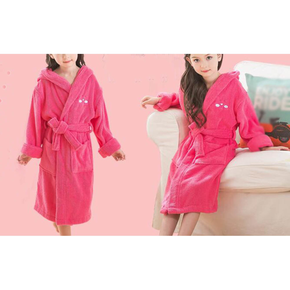 651ce286ff ... Children Cotton Bathrobe Soft Swim Bath Gown Robes Pajamas with Hat-A05  - 1.
