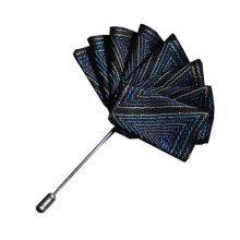 High-end Ribbon Lapel Stick Boutonniere Pins Suit Lapel Pins for Wedding, #13