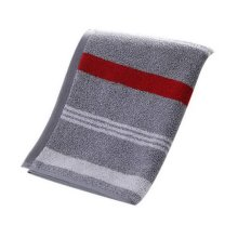 Thickening Cotton Face Towels Hotel Couple Towels Home Wash Stripes Towels, Gray