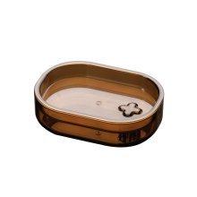 Smoke Brown Plastic Soap Dish