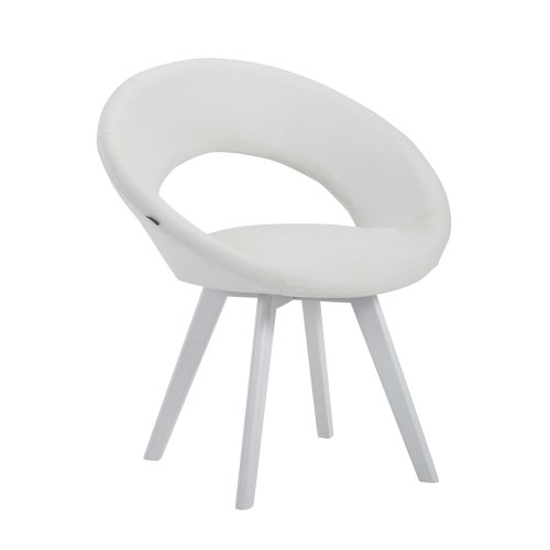 Beck chair Art Leather White