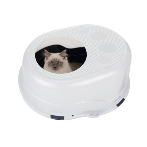 Cat Litter Box Top Entry Hygienic Litter Box Designed to Keep Area Clean