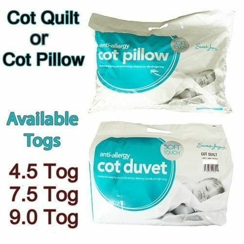 Anti-Allergic Cot Bed Duvet//Quilt For Baby Nursery Toddler All Sizes Available