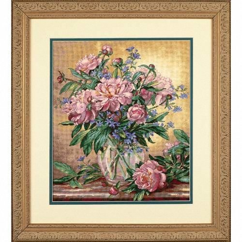 D35211 - Dimensions Counted X Stitch - Gold, Peonies & C-bury Bells
