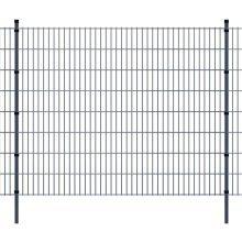 vidaXL 2D Garden Fence Panels & Posts 2008x1630 mm 16 m Grey